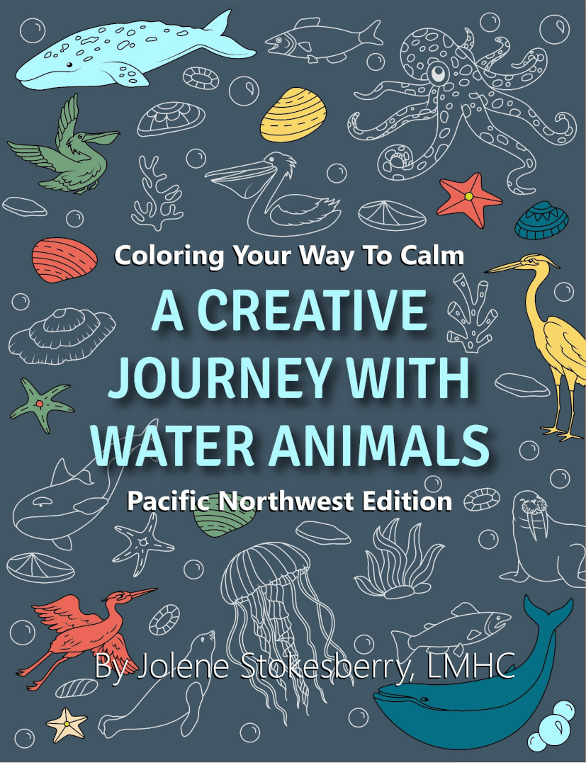 Adult Coloring Creative Journey With Water Animals Cover